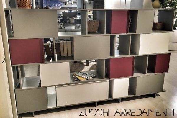 Credenza Con Libreria : Libreria credenza ziggurat arredamento milano zucchi arredamenti