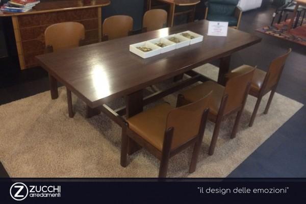 Tavolo Bernini Dining Furniture Noce Impiallacciatura Legno Zucc