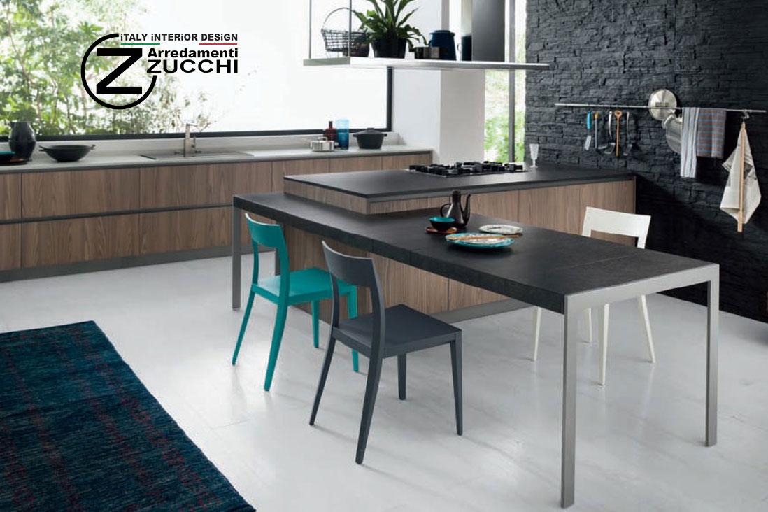 Penisola axia allungabile valdesign italy interior design for Tavoli allungabili milano