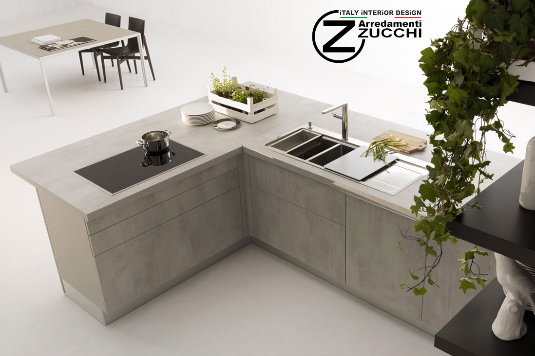 Grande cucine in cemento up73 pineglen - Top cucina in cemento ...