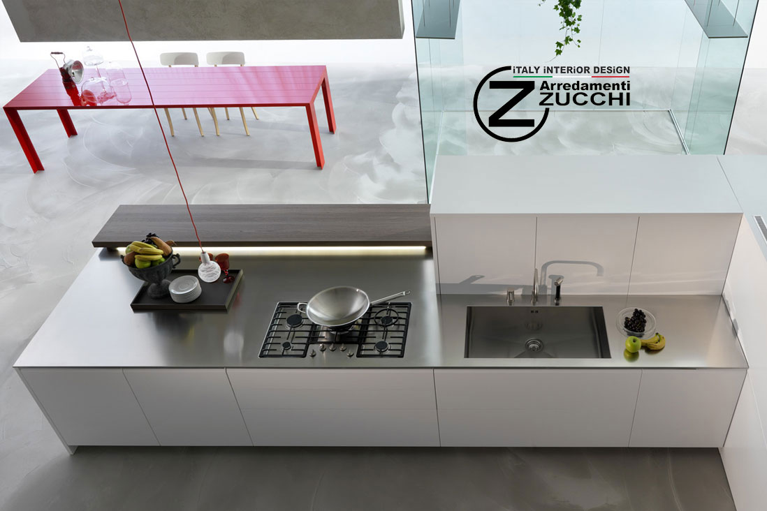 Piani cucina in Acciaio Inox - Dada - Italy Interior Design