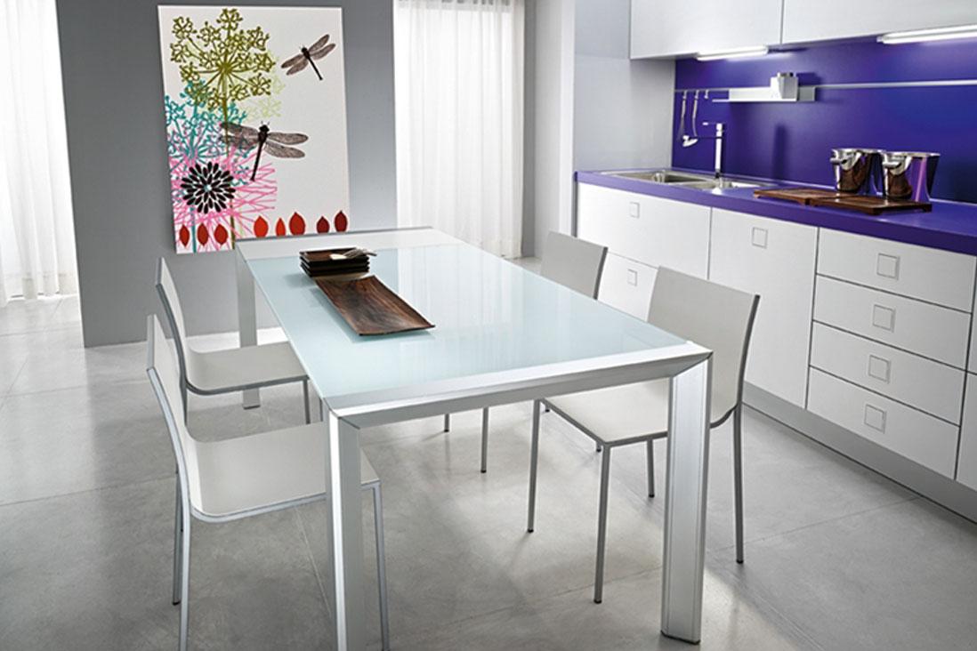 Afill alluminio zucchi arredamenti for Tavoli allungabili milano