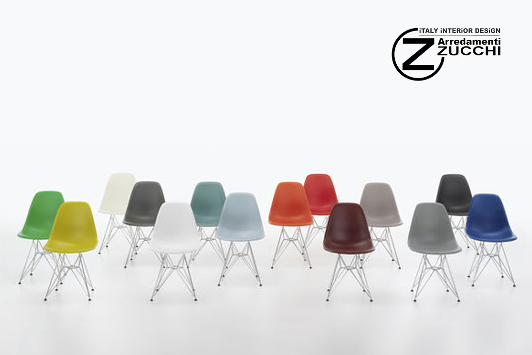 Eames plastic side chair dsr vitra italy interior design for Sedie design eames
