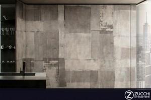 Carta d'arredo RAW Collezioni TOUCH Design GLAMORA con effetto carta appezzamento muro vinilico