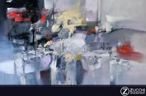 Dipinti d'autore Sikrea 79x105 Esplosioni di colori tecnica mista