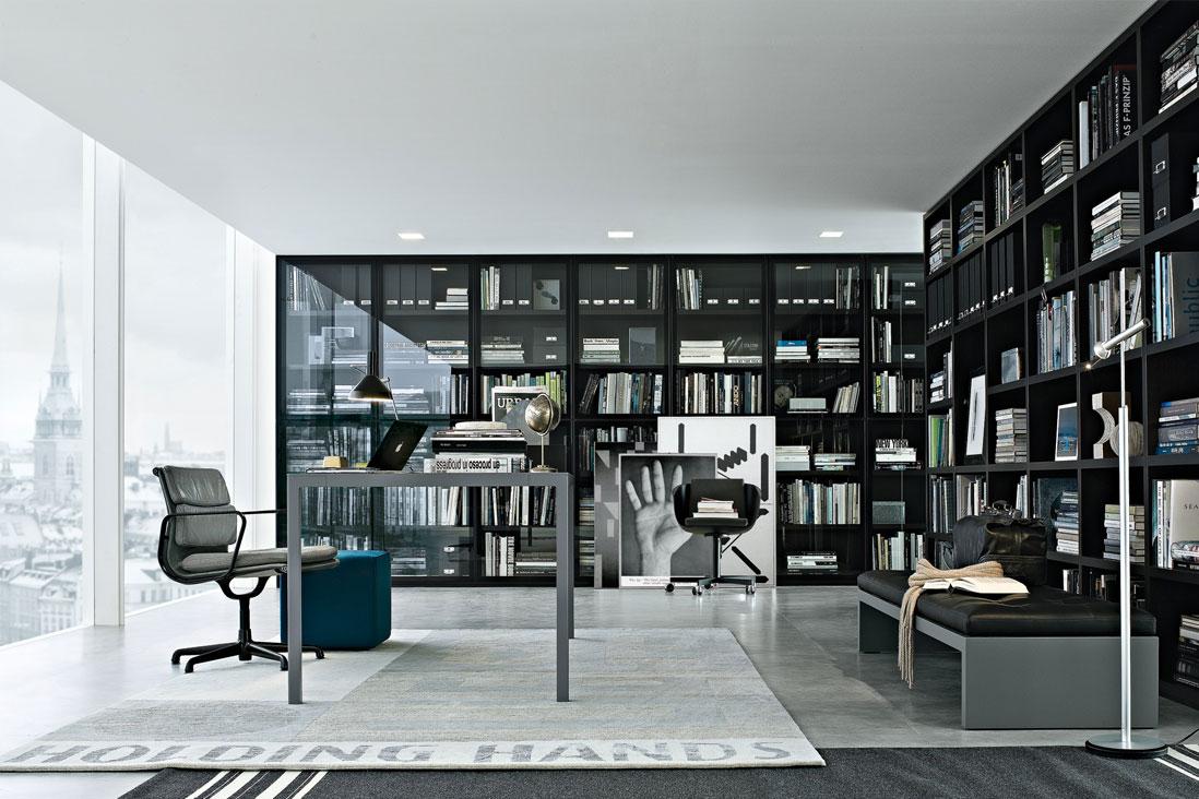 Wall system poliform italy interior design zucchi for Arredamenti molteni milano